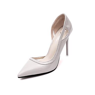 נשים נעליים דמוי עור סתיו עקב סטילטו פפיון ל קזו'אל מסיבה וערב שחור כסף אדום ורוד חום בהיר