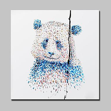 ציור שמן תמונות אמנות מודרני מופשט פנדה קיר ביד בד צבוע עם מסגרת מתוח מוכנה לתלות