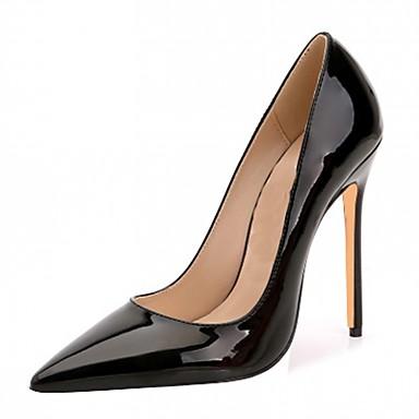 Homens / Mulheres / Unisexo Sapatos Couro Envernizado / Microfibra Primavera / Verão Saltos Salto Agulha Poa Amêndoa / Vinho / Coral