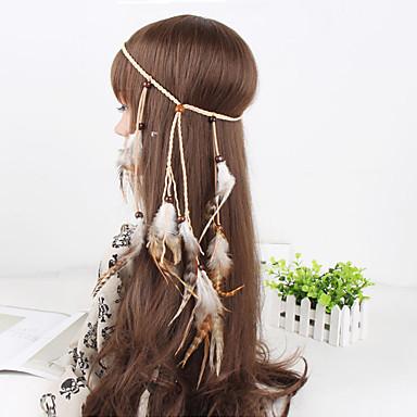 Damen Elegant, Feder Stoff Stirnband - Blume