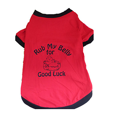 Dog Shirt / T-Shirt Dog Clothes Letter & Number Black/Red Cotton Costume For Pets