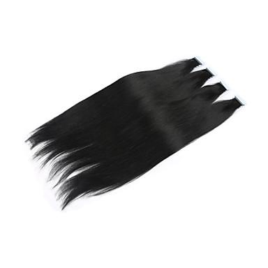 PANSY Adhesivo Extensiones de cabello humano Recto Cabello humano