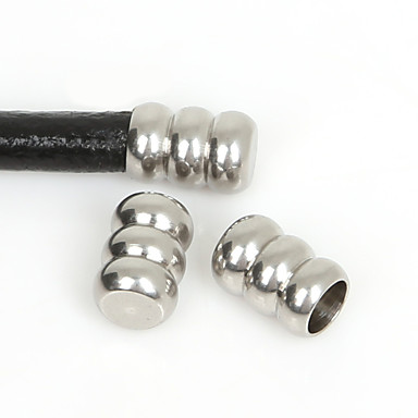 beadia 10pcs rustfritt stål ledningen endestykke&kontakter smykker funn fit 5mm ledningen