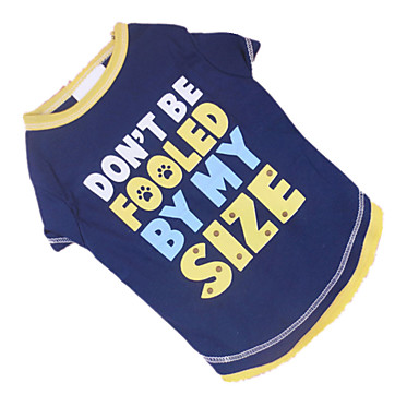 Dog Shirt / T-Shirt Dog Clothes Breathable Letter & Number Blue/Yellow Costume For Pets