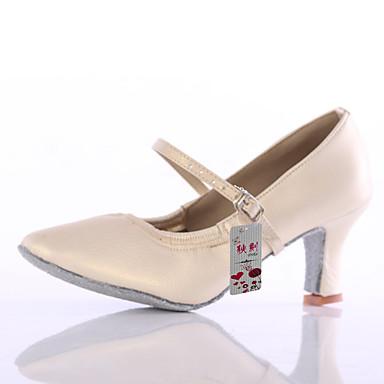 Mujer Zapatos de Baile Latino / Zapatos de Baile Moderno Semicuero Tacones Alto Hebilla Tacón Personalizado Personalizables Zapatos de