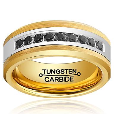 Ringer Mote / Vintage Bryllup / Party / Daglig / Avslappet Smykker Volframstål Båndringe 1 stk,7 / 8 / 9 / 10 / 11 / 12 / 13 / 8½ / 9½ /