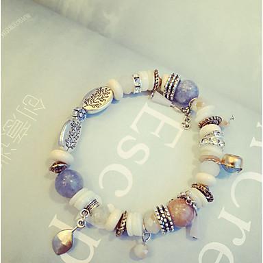 נשים צמידי Strand קריסטל אופנתי סגנון בוהמיה חרוזים ברקת Round Shape תכשיטים עבור יומי קזו'אל