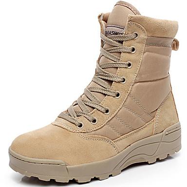 mænds sko bryllup / udendørs / kontor&karriere / fest&aften / afslappet syntetiske støvler mandel / sort