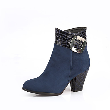 a9ea38e83044 Women s Shoes Leatherette Fall   Winter Fashion Boots Boots Chunky Heel  10.16-15.24 cm   Booties   Ankle Boots Black   Blue   Burgundy