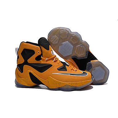 Nike LeBron 13 XIII Basketball Shoes Men\u0027s High Top LeBron James 13 LBJ 13  Retro Sport Shoes Yellow 5102626 2017 \u2013 $99.99