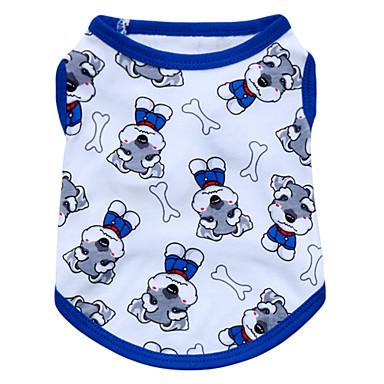 Katze Hund T-shirt Hundekleidung Tier Rot Blau Rosa Baumwolle Kostüm Für Haustiere Herrn Damen Modisch