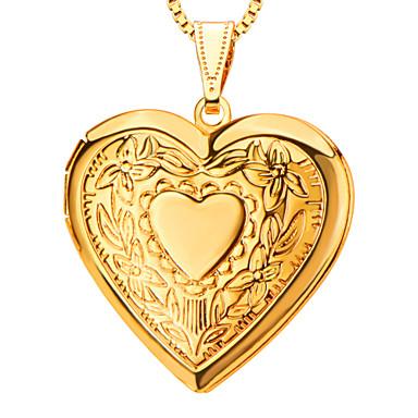 Mujer Collar de medallones / Colgantes - Corazón, Amor Colgante Para Diario