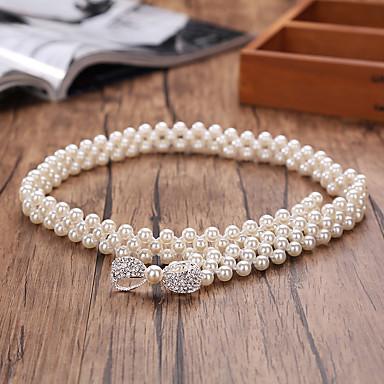 Perle / Elastique Mariage / Fête/Soirée Ceinture-Imitation de perle Femme 64cm Imitation de perle