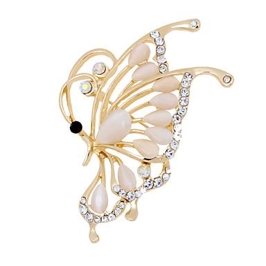 結婚式のためのファッション美しい蝶の形状合金オパールブローチ