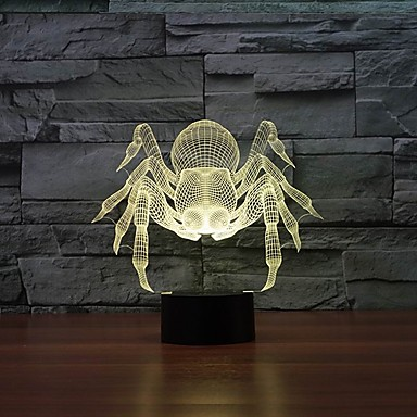 incroyable 3d table illusion nuit lumière de la lampe avec la forme de bague en diamant avec 7 couleurs de lumière de couleur changeante