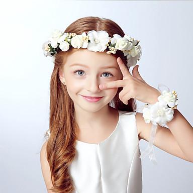drengens piger hår tilbehør, alle årstider akryl pandebånd - khaki lilla beige