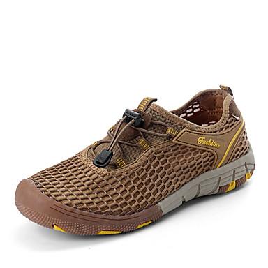 Damen Herren Sneaker Tüll Frühling Herbst Sportlich Normal Wasser-Schuhe Wandern Flacher Absatz Purpur Fuchsia Grün Dark Gray Khaki
