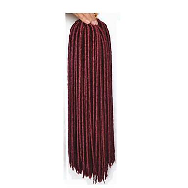 punaise La Havane / Crochet dreadlocks Extensions de cheveux 14 18 inch Kanekalon 24 Brin 115-125 gramme Braids Hair