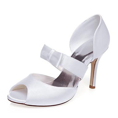 סנדלים-נשים-נעלי חתונה-עקבים / נעלים עם פתח קדמי-חתונה / שמלה / מסיבה וערב-לבן