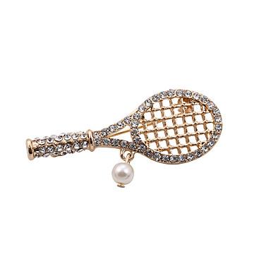 Damen Broschen Retro Künstliche Perle Modisch bezaubernd Strass Schmuck Für Hochzeit Party Alltag Normal