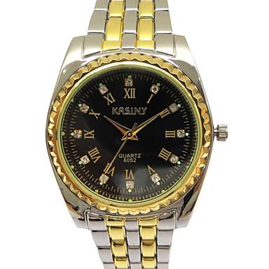 Herrn Modeuhr Quartz Armbanduhren für den Alltag Edelstahl Band Bettelarmband Silber