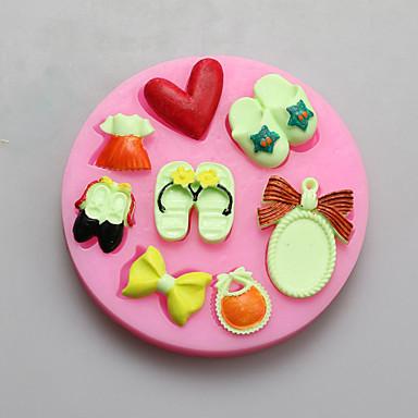 moldes de chinelo espelho forma de chocolate de silicone, moldes de bolo, moldes de sabão, ferramentas de decoração bakeware