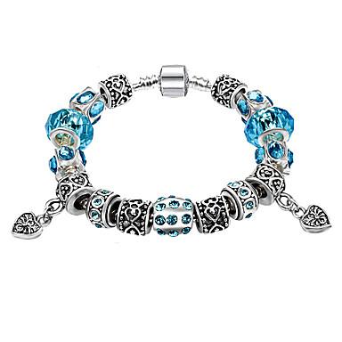 נשים צמידי Strand קריסטל פאר אופנתי חרוזים ארופאי קריסטל יהלום מדומה סגסוגת Round Shape תכשיטים עבור יומי קזו'אל