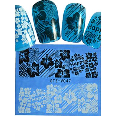 1 Neglekunst klistremerke Hel Negle Tipper Blomst Tegneserie Smuk Bryllup Sminke Kosmetikk Neglekunst Design