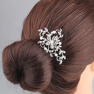 Rhinsten / Legering Hair Combs / Hovedtøj med Blomster 1pc Bryllup / Speciel Lejlighed Medaljon