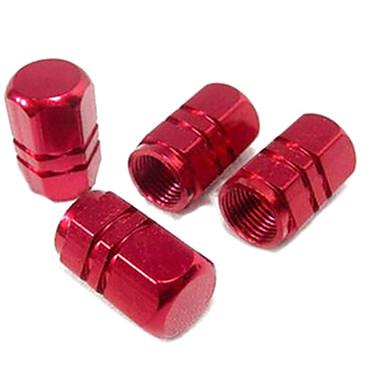 4 stk dekk ventil hette aluminiumshette dekk ventil hette