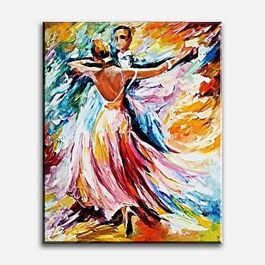 Peint à la main Personnage Format Vertical,Classique Moderne Traditionnel Réalisme Méditerranéen Pastoral Style européen Toile Peinture à