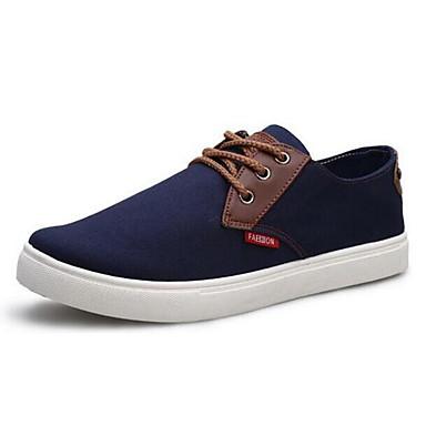 Sapatos Masculinos - Tênis Social - Azul / Vermelho - Lona - Casual