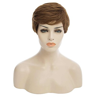 Perucas sintéticas Encaracolado Mulheres Sem Touca Cabelo Sintético
