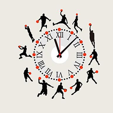 Moderne/Contemporain Traditionnel Décontracté Bureau / Affaires Sports Famille Dessin animé Horloge murale,Rond Nouveauté Autres 90*30*0.1