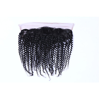 PANSY Kinky Curly Afro Full Lace 4x13 Fermeture Dentelle Suisse Cheveux humains Partie gratuite