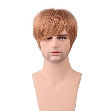 coiffure courte monofilament droite supérieure perruque 100% cheveux remy humains de jolis hommes