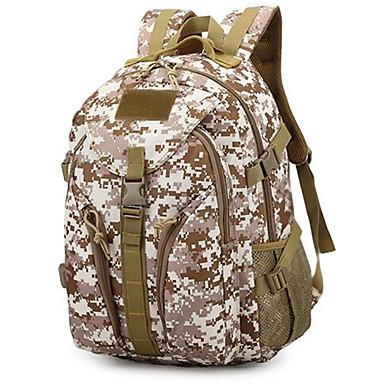 35L mochila - Multifuncional Acampar e Caminhar Náilon selva digital, Três cor de areia, Desert digital