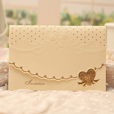 Dreifach gefaltet Hochzeits-Einladungen Einladungskarten Klassicher Stil Perlenpapier