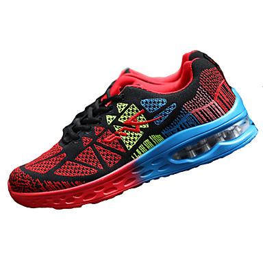 Unissex-TênisRasteiro-Preto Azul Rosa Vermelho-Tecido-Para Esporte