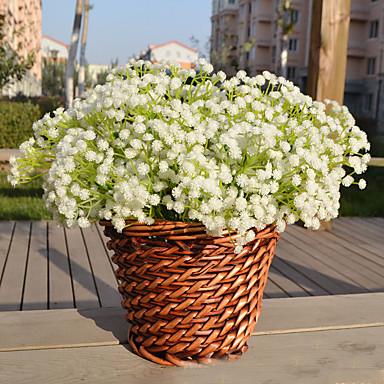 Polyester Bryllup Dekorationer-1piece / Set Kunstig blomst Nytår / Bryllup Rustik Theme Hvid / Rød Forår / Sommer / Efterår / Vinter