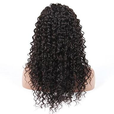 Menneskehår Blonde Front Paryk Dyb Bølge 130% Massefylde 100 % håndbundet Afro-amerikansk paryk Natural Hairline Kort Medium Lang Dame