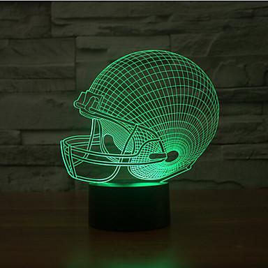 Rugby-Hut-Touch-Dimmen 3d führte Nachtlicht 7colorful Dekoration Atmosphäre Lampe Neuheit Beleuchtung Licht