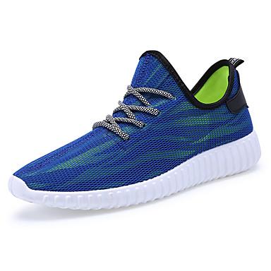 Sneakers-Tyl-Komfort-Herre-Sort Blå Grå-Fritid-Flad hæl