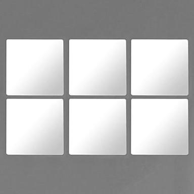 Spiegel Wand-Sticker Spiegel Wandsticker Dekorative Wand Sticker,PVC Stoff Waschbar / Abziehbar / Repositionierbar Haus Dekoration