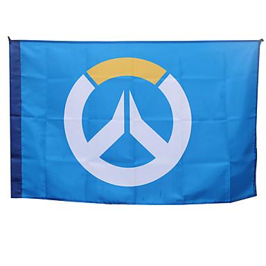 Enemmän lisävarusteita Innoittamana Cosplay Cosplay Anime Cosplay-Tarvikkeet Flag Sininen Macromolecular Material Uros / Naaras