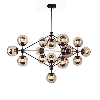 EcolightTM Chandeliers 15 Lights Glass Ball Retro Living Room Hallway Outdoors Garage Metal 4629152 2017 29919
