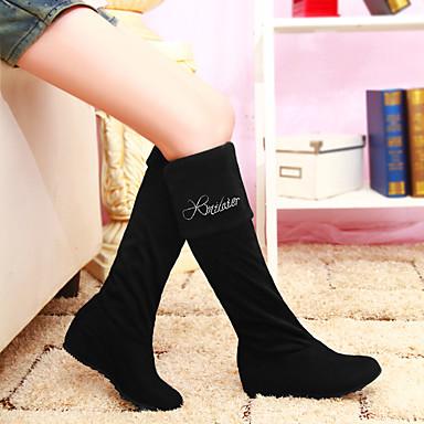 Hiver Bout Cuissarde Mode Femme bottes slouch Bottes rond la synthétique Chaussures Plat Bottes à pour Bottes 06456644 Habillé Automne Laine Talon 66qtFn8T