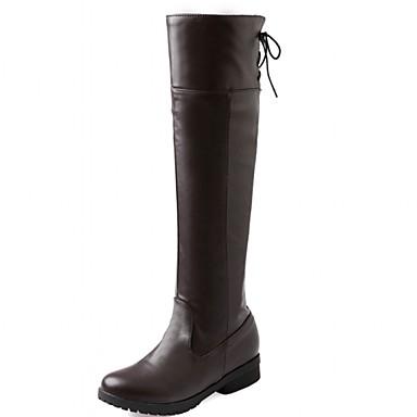 Hæle-Syntetisk-Cowboystøvler Snowboots Ridestøvler Modestøvler-Dame-Sort Brun Hvid-Bryllup Kontor Formelt Fritid Fest/aften-Lav hæl