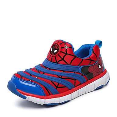 Sneakers-Læder-Komfort Flade balletsko Modestøvler-Unisex-Blå Rosa Rød-Udendørs Fritid Sport-Flad hæl