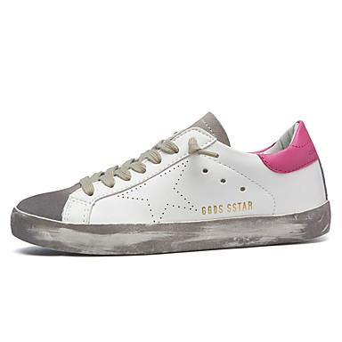 Damer Sneakers Satin Sommer Afslappet Snøring Flad hæl Sort Mørkeblå Grå Lys pink 2,5-4,5 cm